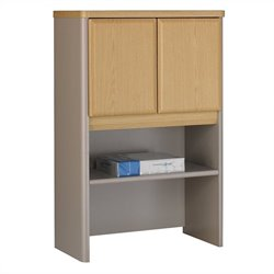 Bush BBF Series A 24W Storage Hutch in Light Oak