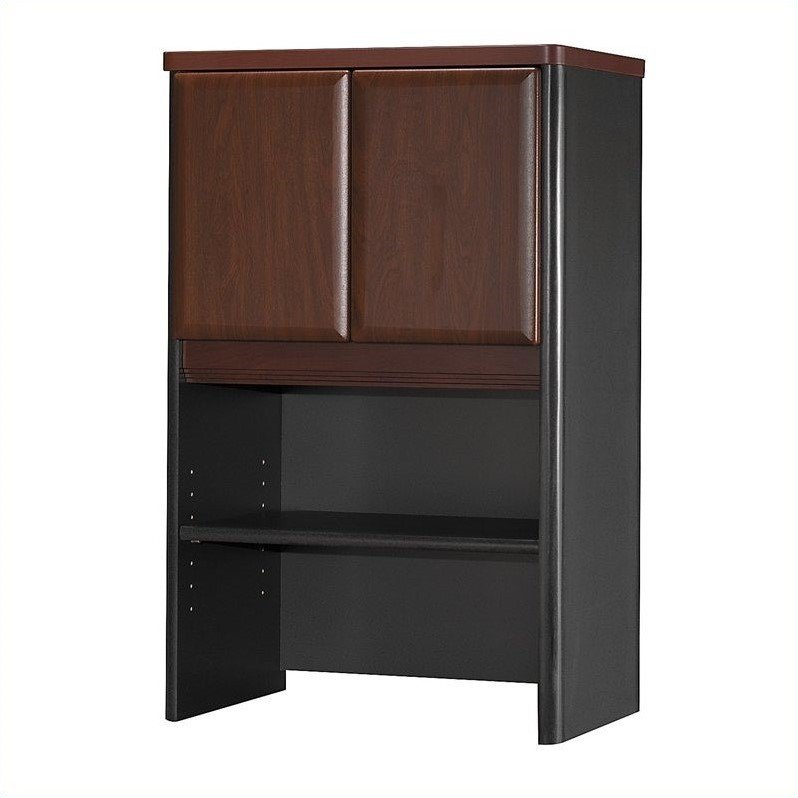 Bush Business Furniture Series A 24W Storage Hutch in Hansen Cherry