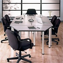 Bush BBF Aspen Octagonal 8.9 Conference Table in White Spectrum