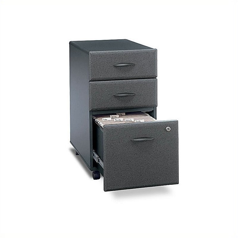 Bush BBF Series A 3Dwr Mobile Pedestal in Slate