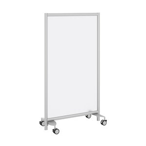 Bush Business Furniture Freestanding Frosted Acrylic Privacy Panel with Wheeled Base