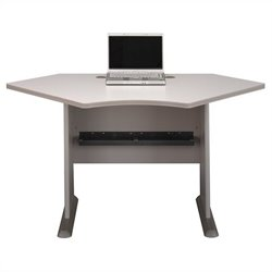 Bush Business Furniture Series A 42W Corner Desk in Pewter