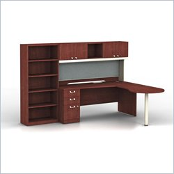 Bush BBF Quantum Harvest Cherry L-Shaped  Right Configuration with Hutch