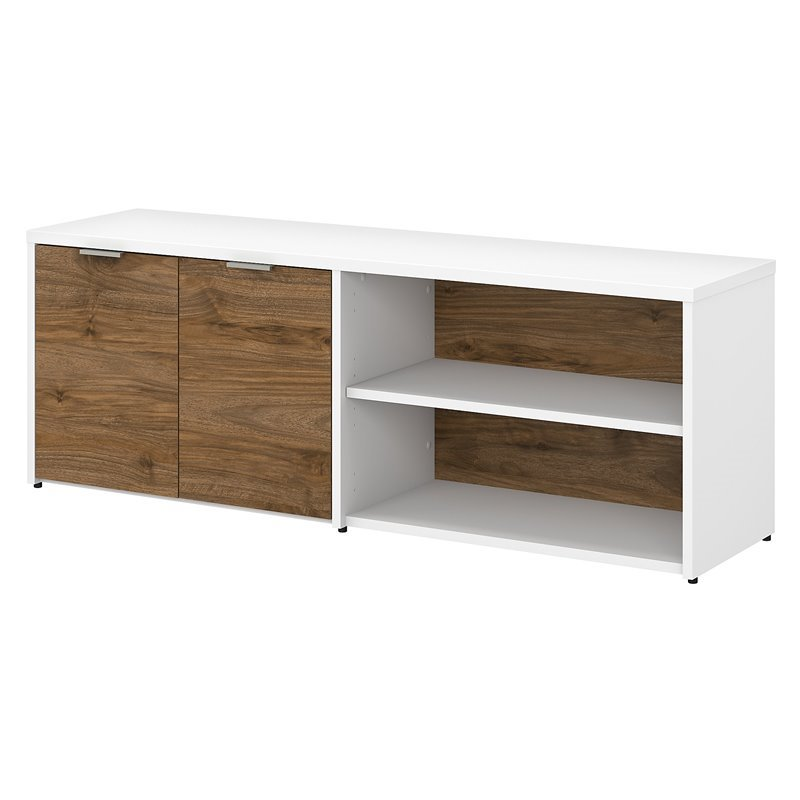 Bush Business Furniture Jamestown Low Storage Cabinet with Doors and Shelves