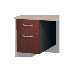 Bush BBF Series C 2 Drawer 3/4 Pedestal in Hansen Cherry