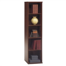 Bush BBF Series C 18W 5-Shelf Bookcase in Hansen Cherry