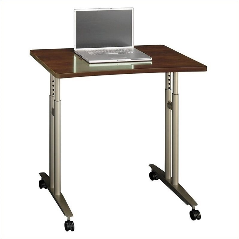 Bush Business Furniture Series C Adjustable Height Table Hansen Cherry