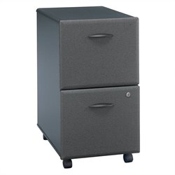 Bush Business Furniture Series A 2Dwr Mobile Pedestal in Slate