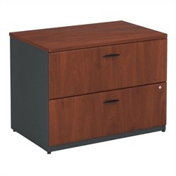 Bush Business Furniture Series A 36W 2Dwr Lateral File Hansen Cherry