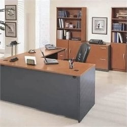 Bush Business Series C 8-Piece L-Shape Desk in Auburn Maple