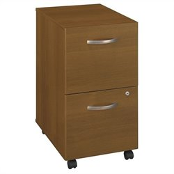 Bush BBF Series C 2Dwr Mobile Pedestal in Warm Oak