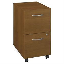Bush BBF Series C 2Dwr Mobile Pedestal (Assembled) in Warm Oak