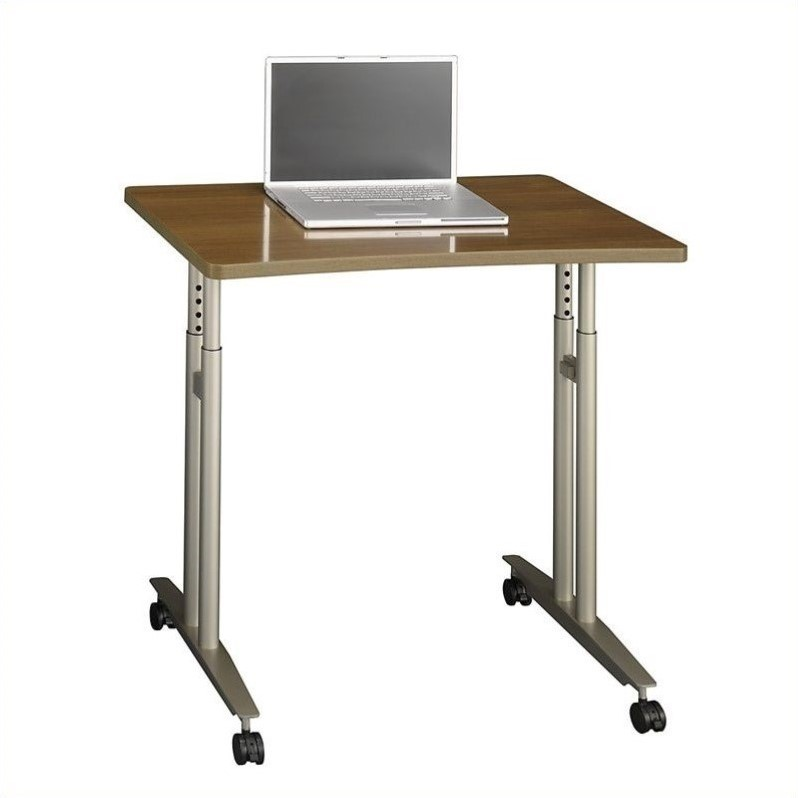 Bush Business Furniture Series C Adjustable Height Table in Warm Oak