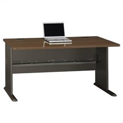 Bush BBF Series A 60W Desk in Sienna Walnut