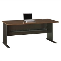 Bush Business Furniture Series A 72W Desk in Sienna Walnut