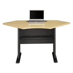 Bush Business Furniture Series A 42W Corner Desk in Beech