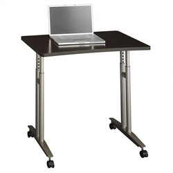 Bush BBF Series C Adjustable Height Mobile Table in Mocha Cherry