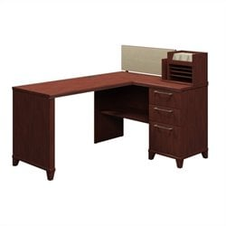 Bush Business Furniture Enterprise 60 X 47 Corner Desk Harvest Cherry