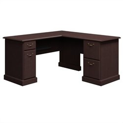 Bush BBF Syndicate 60W x 60D L-Desk in Mocha Cherry