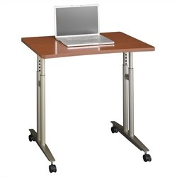 Bush Business Furniture Series C Adjustable Height Table Auburn Maple
