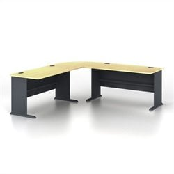 Bush BBF Series A 3-Piece L-Shape Computer Desk in Beech