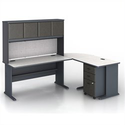 Bush BBF Series A 4-Piece L-Shape Computer Desk in Slate