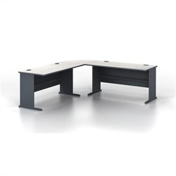 Bush BBF Series A 3-Piece L-Shape Computer Desk in Slate
