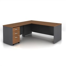 Bush Business Series C 3-Piece L-Shape Computer Desk in Auburn Maple