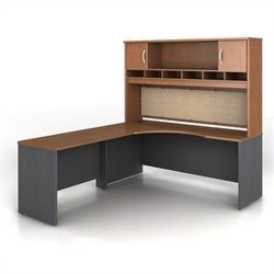 Bush BBF Series C 3-Piece Left-Hand Corner Computer Desk in Auburn Maple
