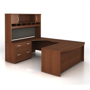 Bush Business Series C 4-Piece U-Shape Left-Hand Computer Desk