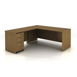 Bush BBF Series C 3-Piece Computer Desk in Warm Oak