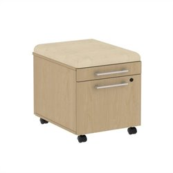 Bush BBF 300 Series Mobile Pedestal in Natural Maple and Desert Bluff