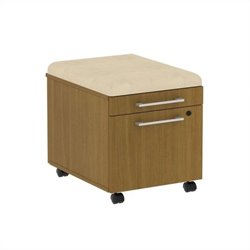 Bush BBF 300 Series Mobile Pedestal in Modern Cherry and Desert Bluff