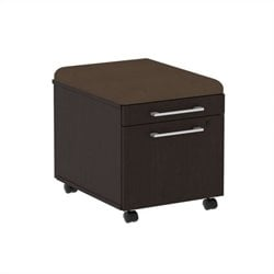 Bush BBF 300 Series Mobile Pedestal in Mocha Cherry and Cocoa