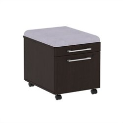 Bush BBF 300 Series Mobile Pedestal in Mocha Cherry and Morning Dew