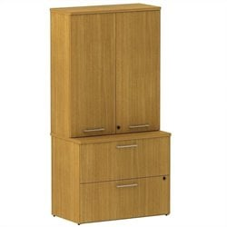 Bush BBF 300 Series Lateral File with Storage in Modern Cherry