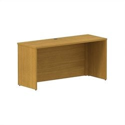 Bush BBF 300 Series 60W x 22D Shell Desk Credenza Kit in Modern Cherry