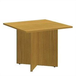 Bush BBF 36 Inch Square Conference Table - Wood Base in Modern Cherry