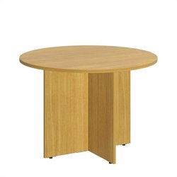 Bush BBF 42W Round Conference Table - Wood Base in Modern Cherry