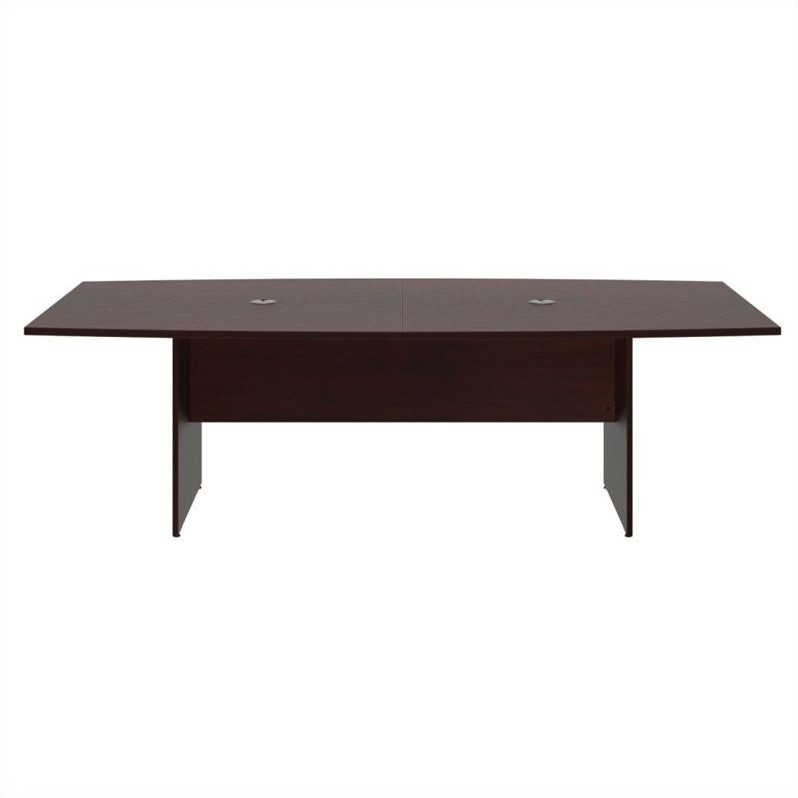 Bush BBF 96L x 42W Conference Table Kit - Wood Base in Harvest Cherry