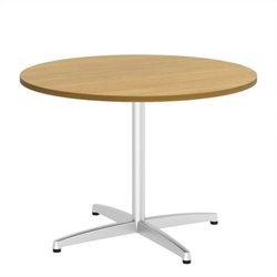 Bush BBF 42W Round Conference Table Kit - Metal X Base in Modern Cherry