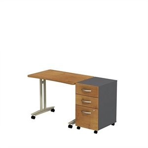 Bush Business Series C Adjustable Table with Pedestal