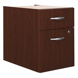 Bush BBF Series C 2 Drawer 3/4 Pedestal (Assembled) in Mahogany