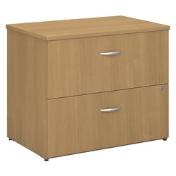 Bush BBF Series C 36W 2Dwr Lateral File (Assembled) in Light Oak