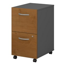 Bush BBF Series C 2Dwr Mobile Pedestal (Assembled) in Natural Cherry