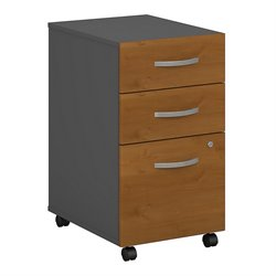 Bush BBF Series C 3Dwr Mobile Pedestal (Assembled) in Natural Cherry