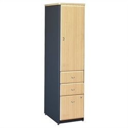 Bush Business Series A Vertical Locker (Assembled) in Beech
