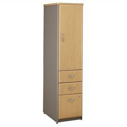 Bush BBF Series A Vertical Locker (Assembled) Light Oak