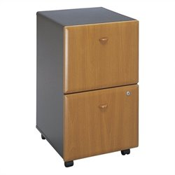 Bush BBF Series A 2Dwr Mobile Pedestal (Assembled) in Natural Cherry