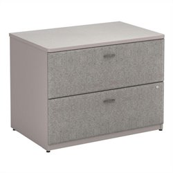 Bush BBF Series A 36W 2Dwr Lateral File (Assembled) in Pewter